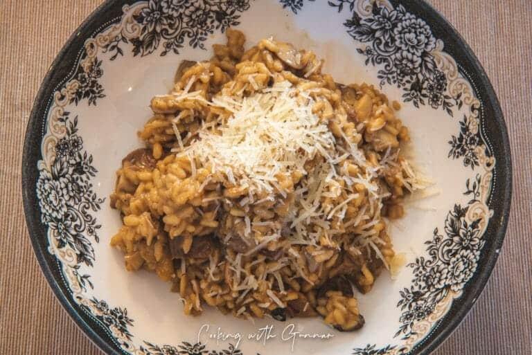 Plate of Risotto Ai Funghi